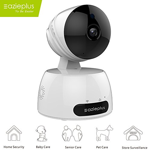 P Camera, 720P Home Wireless Video Surveillance System With Two Way Audio Remote Indoor Night Vision For Pet Monitor, Nanny Camera, Baby Monitor and Puppy Cam (White) (Hi Cam)