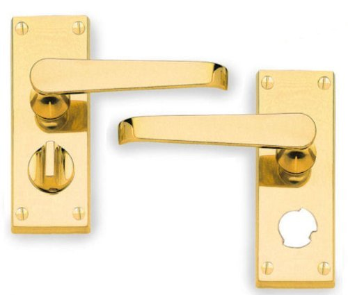 Finish CP Carlisle Brass CBV31WCCP Contract Victorian Scroll PRIVACY Lever on Backplate Polished Chrome
