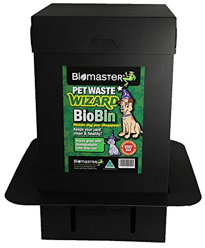 Pet Waste Wizard BioBin Pet Waste Disposal Unit, Waste Digester (100% Recycled Material, 10