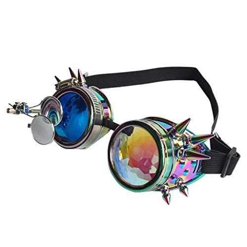 Women&Men Colorful Glasses Rave Festival Party EDM Sunglasses Diffracted Lens -