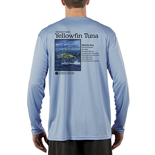 - Saltwater Classics Offshore Yellowfin Tuna Men's UPF 50+ Long Sleeve T-shirt XX-Large Columbia Blue