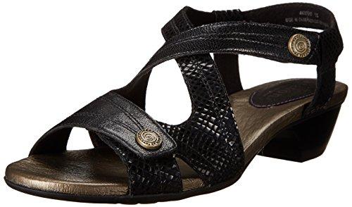 Aravon Women's Sonia Black Multi Sandal 8 M (B) by Aravon