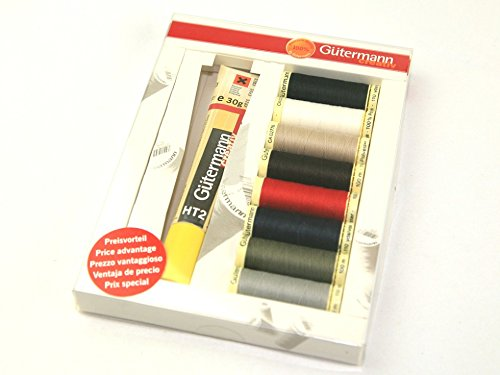 Gutermann Multi Pack Polyester Sew All Sewing Thread & HT2 Textile Glue by Gutermann