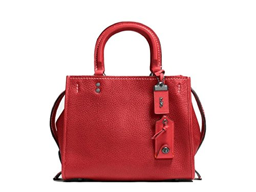 COACH 1941 Rogue 25 in Glovetanned Pebble Leather Satchel BP/1941 Red