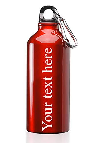 Hat Shark Customized 3D Laser Engraved Personalized 17 oz Custom Stainless Steel Water Bottle (Red)