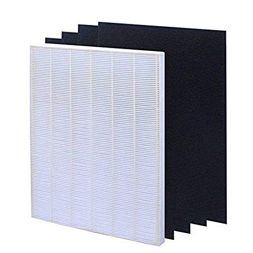 Ocamo Air Filter Element Set for HEPA Air Filter Screen+ 4 Replacement Activated Carbon Filters Winix 115115 White
