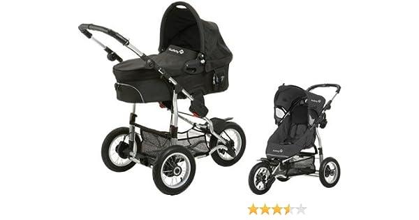 Safety 1st 75703660 Ideal Sportive - Carrito convertible, incluye silla, capazo y adaptadores, color negro