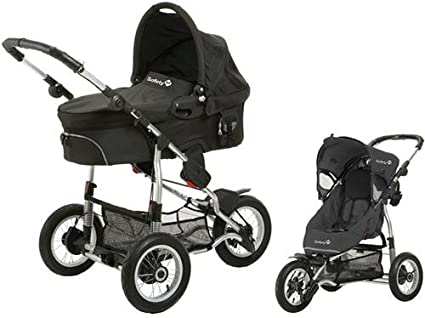 Safety 1st 75703660 Ideal Sportive - Carrito convertible, incluye silla, capazo y adaptadores, color negro