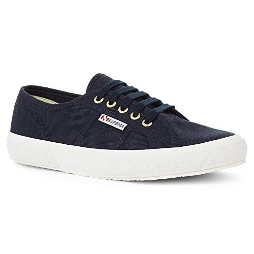 Classic Blue Pop Lace Up Canvas Women's 2750 Cotu Superga Gold Navy Colour PxBtRYBw