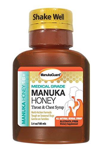 (Manukaguard, Throat & Chest Syrup Medical Grade, 3.4 Ounce )