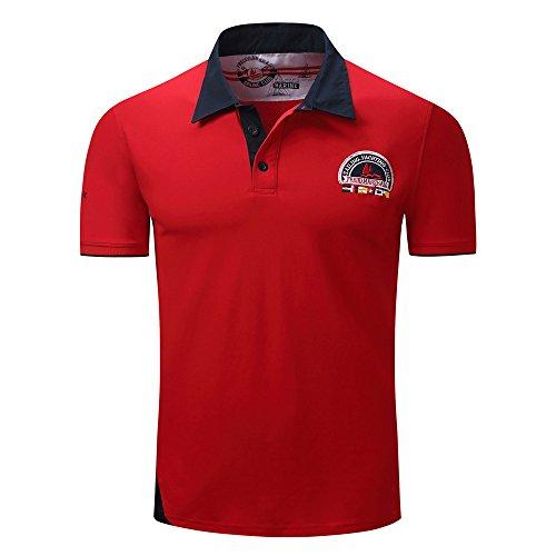 シャツポロシャツ, Glennoky メンズ tシャツ おおきいサイズ 半袖 トップス ファッション おしゃれ スポーツ tシャツ カジュアル ゴルフウェア 無地 春夏 着回し 上着 日常着 速乾 シャツ