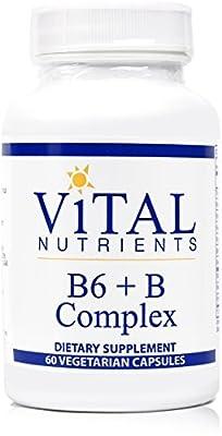 Vital Nutrients - B6 + B-Complex - Balanced B Vitamin Formula With Extra B6 - 60 Capsules