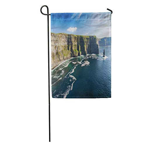 Nick Thoreaufhed Garden Flag Aerial Ireland Countryside Tourist Attraction in County Clare The Cliffs Home Yard House Decor Barnner Outdoor Stand 12x18 Inches Flag (Best Tourist Attractions In Chicago)