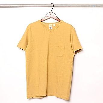 321e7128a263 バーンズ アウトフィッターズ BARNS OUTFITTERS 吊り編み 天竺 ポケット V ネック 半袖 Tシャツ L OLD