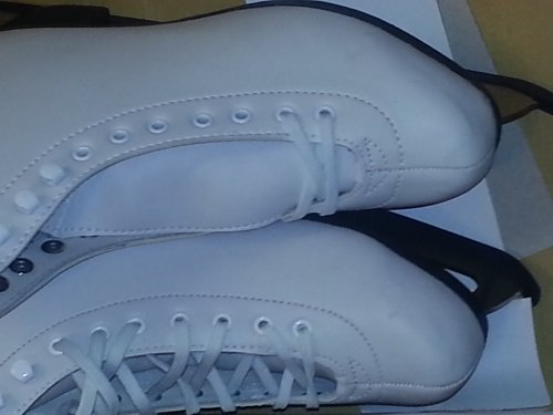 American Athletic Shoe Women's Leather Lined Ice Skates, White, 8