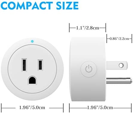 Smart Plug Esicoo - A Certified Works with Alexa, Echo & Google Home –Only Cloud Intelligence App- Only WiFi 2.4G (4 Pack)
