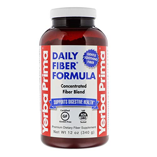 Yerba Prima Daily Fiber Powder for Digestive Support, 12 Ounce