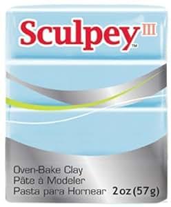 Sculpey III Polymer Clay 2 Ounces-Sky Blue