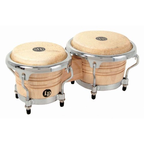 Miniature Bongos - Natural Color Mini Bongo Drums Gift for Drummer or Percussionist