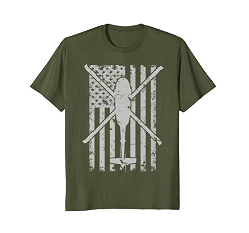 Olive Helicopter (Mens UH-60 Blackhawk Military Helicopter Patriotic Flag T-Shirt XL Olive)