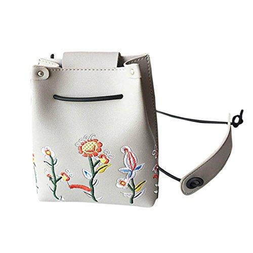 las por Gris bolsa floral de bolso Morwind bolso crossbody niñas Simple retro hombro wSnExCqw6