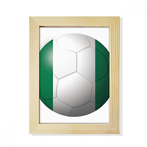 DIYthinker Nigeria National Flag Soccer Football Desktop Wooden Photo Frame Picture Art Painting 6x8 inch by DIYthinker