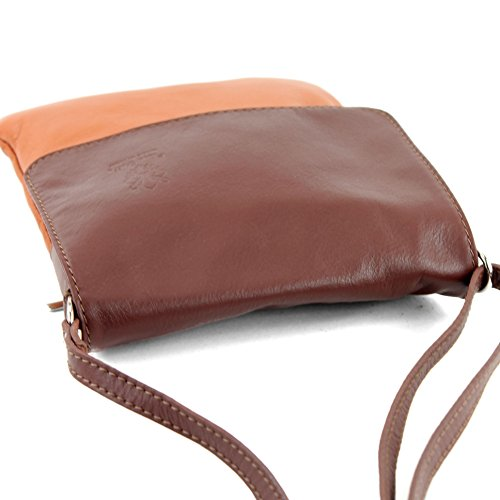 ladies modamoda bag T 34 ital small Camel Messenger de leather bag Brown shoulder x0w0gqTrU