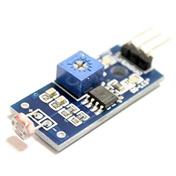 Módulo detector de luz con salida digital, fotodetector, sensor de luminosidad, sensor de luz para Arduino, Genuino y Raspberry Pi: Amazon.es: Electrónica