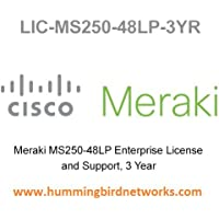 LIC-MS250-48LP-3YR Enterprise Meraki License for MS250-48LP 3 Year