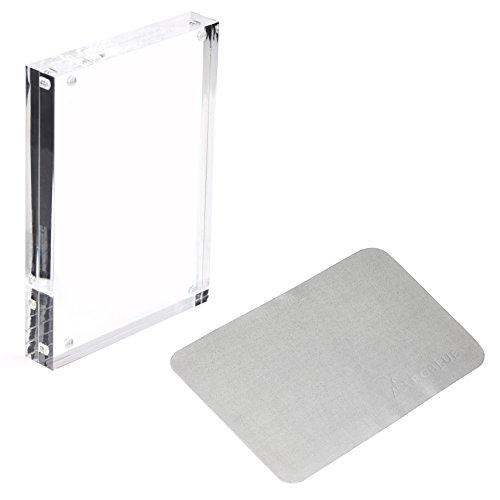 RGBlue Acrylic Photo Frame with Microfiber Cleaning Cloth, (Acrylic Glass Frames)