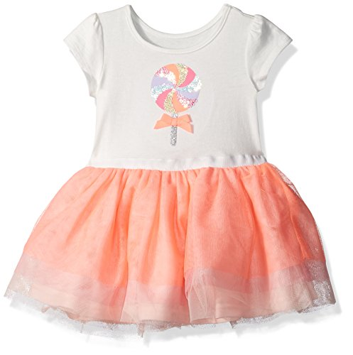 15 Coral (The Children's Place Baby Girls' Short Sleeve Casual Dresses, Coral Rocket 3926, 12-18 Months)