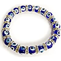Evil Eye TUORQIS Glass Turkish Evil Eye Bracelet with Lucky Eye Charm #2266