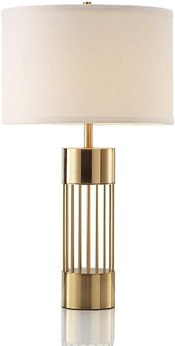 Lámparas de mesa de metal vintage, Nordic LED iluminación de tela ...