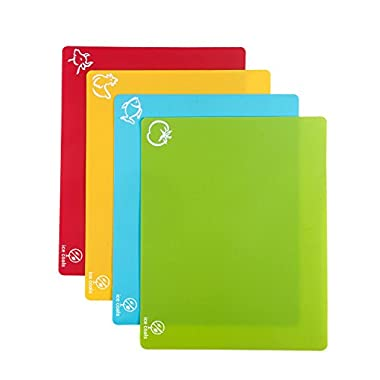 Cutting board Set of 4 Unique 15''X12'' table pads with Anti-microbial -Germ-resistant -Dishwasher Safe-odor free.Complimentary VIP Membership included!