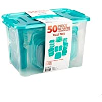 Bradshaw Multi-Use 50 Piece Food Storage Set (Ice Blue)