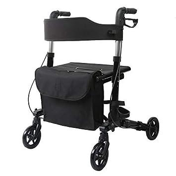 Amazon.com: ELENKER - Andador médico con asiento, asas ...