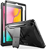 Galaxy Tab A 10.1 2019 Rugged Case with Kickstand, SM-T510/T515, Poetic Full Body Shockproof Cover, Built-in-Screen Protector, Revolution, for Samsung Galaxy Tab A Tablet 10.1 Inch (2019), Black