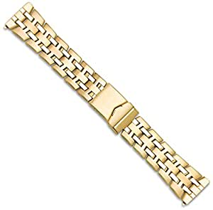 Link Style Metal Watch Band - Gold - 26mm