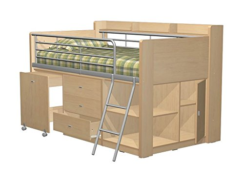 Beautiful Amazon Rack Furniture Charleston Loft Bed Natural Beech Kitchen & Dining In 2019 - Amazing white loft bed with desk Trending