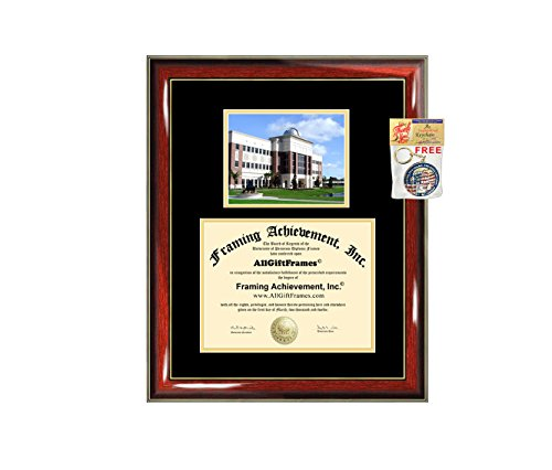 Florida Institute of Technology Diploma Frame - FIT Graduation Degree Frame - Matted Campus College Photo Graduation Certificate Plaque University Framing Graduate Gift Collegiate ()