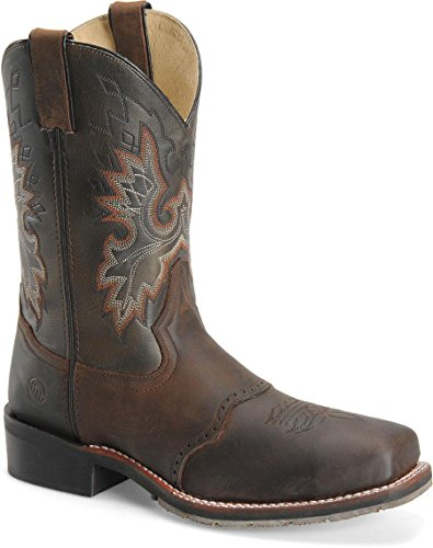 (DH3658 Brown Mens 11 Inch Square Steel Toe Roper Double H Work Boots (10.5 D))