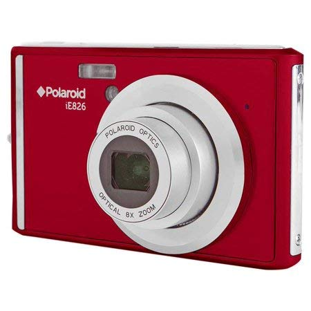 Polaroid IE826 Digital Camera with 18 Megapixels and 8X Optical Zoom - Red
