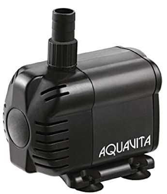 AquaV 238 GPH Submersible and In-line Water Pump With Filter - Use Inside or Outside Tank - UL Listed - 4.1 FT