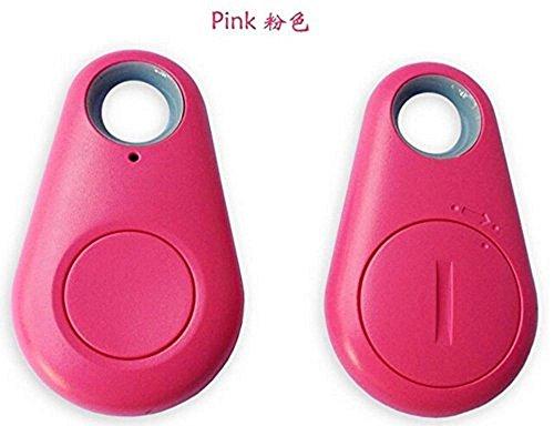 Bluetooth Tracker Sensor Smart Tag Finder Wireless Bluetooth 4.0 Tracker Child Wallet Key Keychain Finder GPS Locator Anti Lost Alarm Itag Alarm System (Pink)
