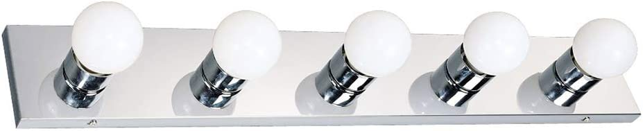 Design House 509653 5 Light Vanity Light, Polished Chrome