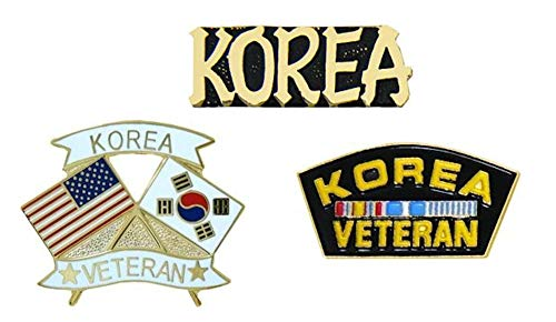Korean War Veterans Pins - Novelty Hat Pin 3 PACK