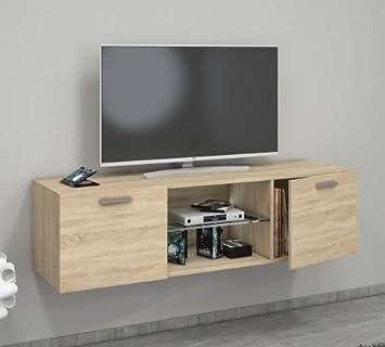 vcm tv schrank lowboard tisch board fernseh sideboard wandschrank wohnwand holz sonomaeiche x with tv schrank sonoma eiche