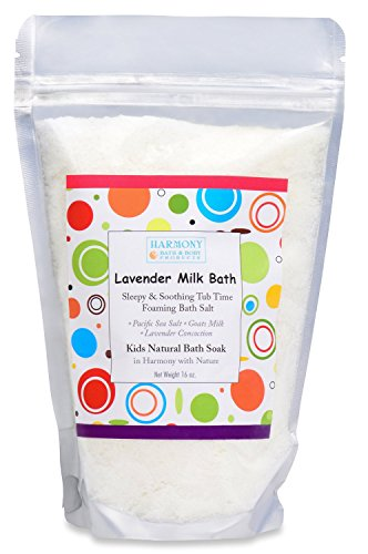Christmas Time Salt - Best Lavender Milk Bath - Best Kids Bath Salt - Sleepy & Soothing Tub Time Foaming Bath Salt Soak - All Natural