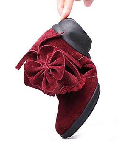 Low Party Womens Heel Abby Red Dance Modern Zip Toe Closed High 1806 Relaxing Shoes Top Charming Flower qvqftw