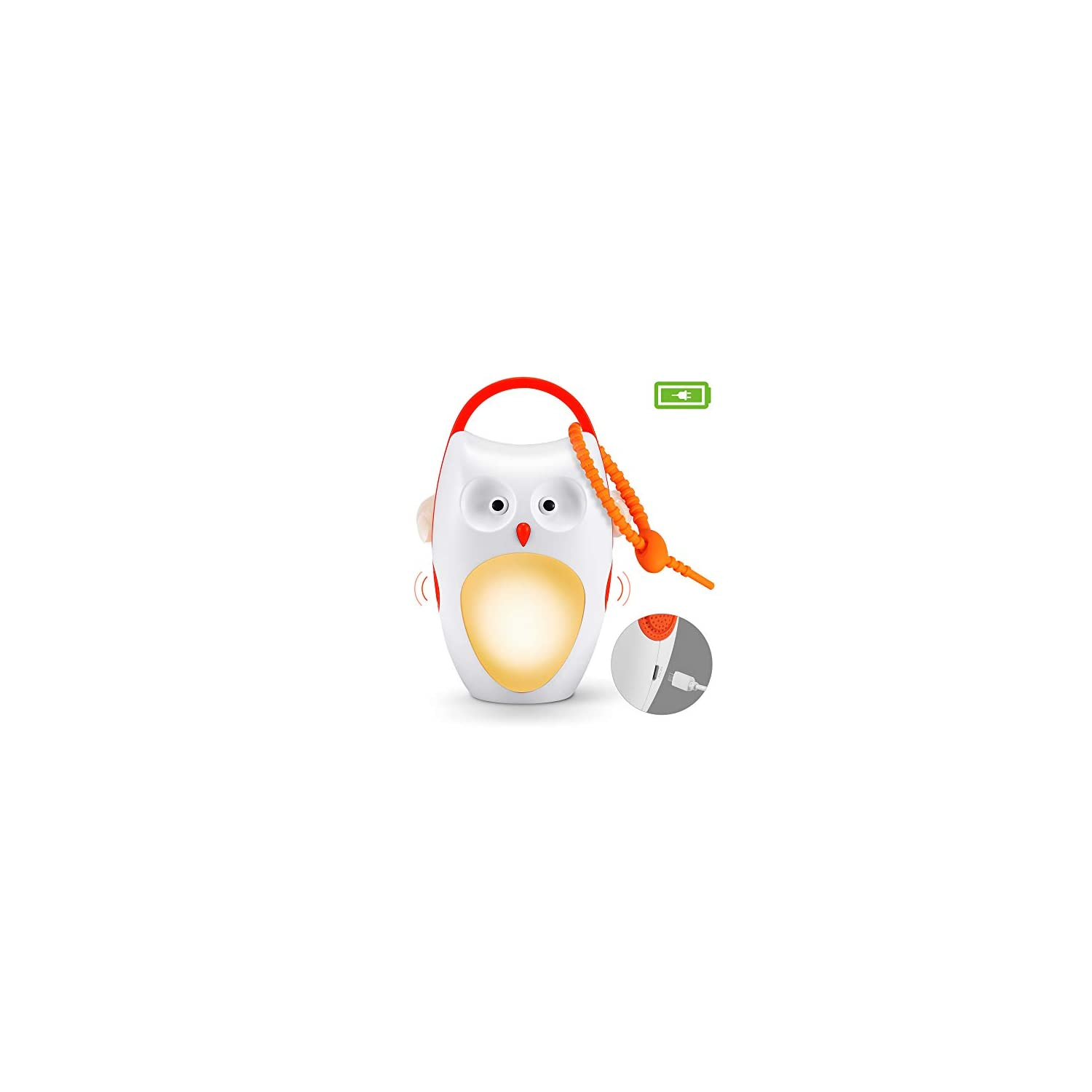 Baby Sleep Soother Shusher Sound Machines, Baby Gift, Rechargeable Portable White Noise Machine with Night Light, 8 Soothing Sounds and 3 Timers for Traveling, Sleeping, Baby Carriage (owl)